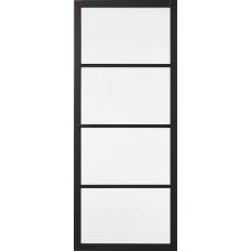 Binnendeur Skantrae Slimseries SSL Blank Glas 4004 Zwart
