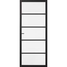 Binnendeur Skantrae Slimseries SSL Blank Glas 4005 Zwart