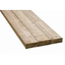 Vuren hout geïmpregneerd 22x150mm - Netto 18x145mm Lengte 480cm