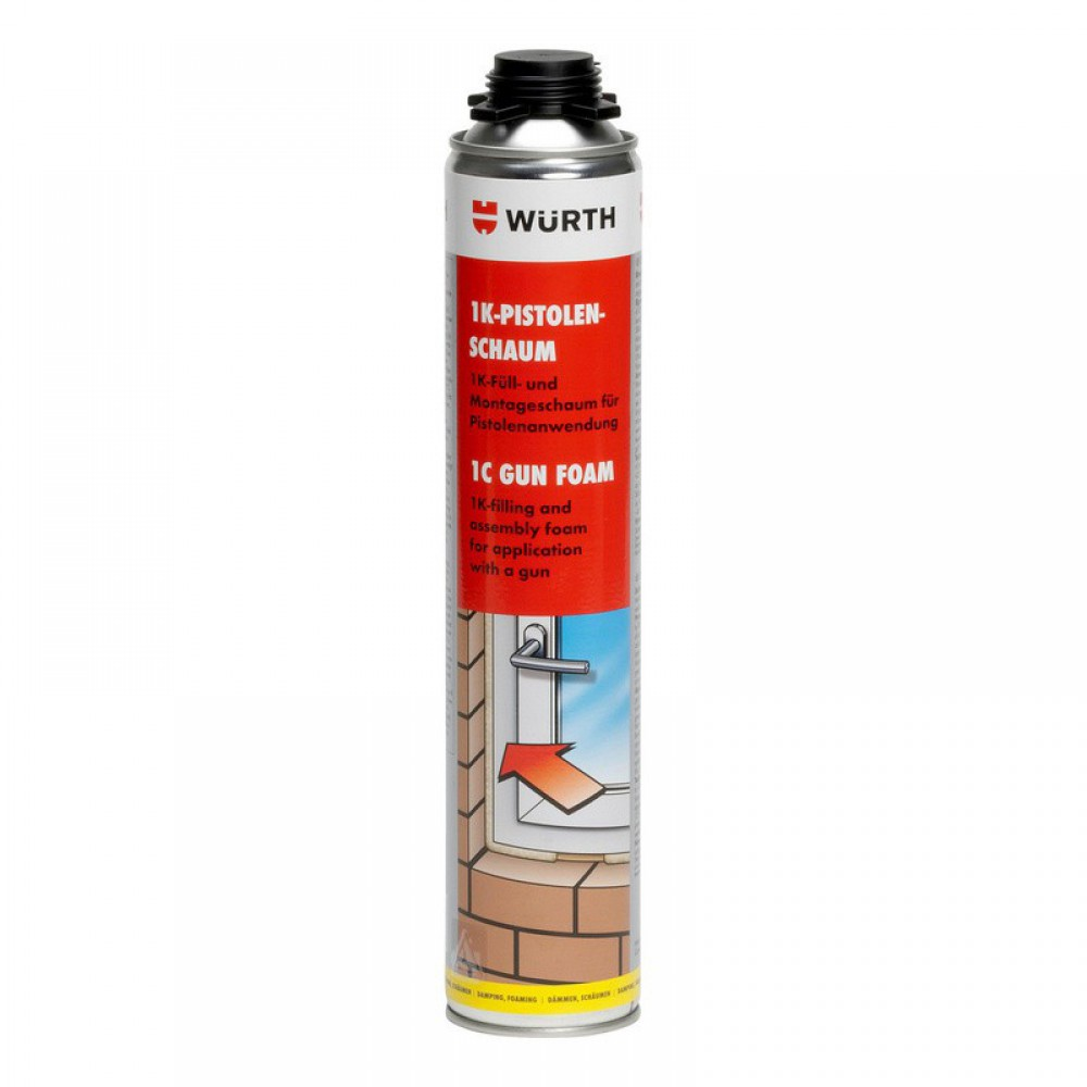 Würth 1K Montageschuim PurPlus 750ml + Spuitmond