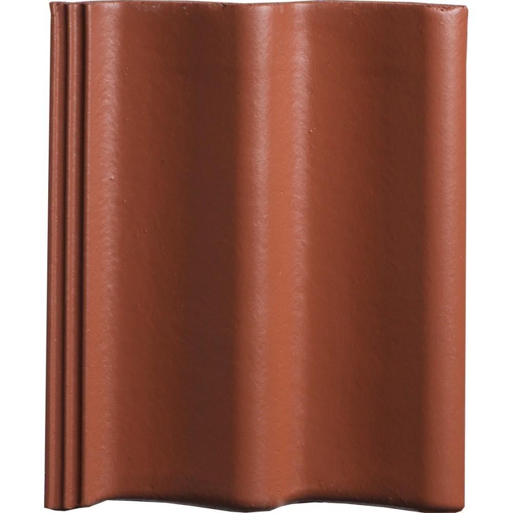 Monier Sneldek betonpan Rosso glazuron effen