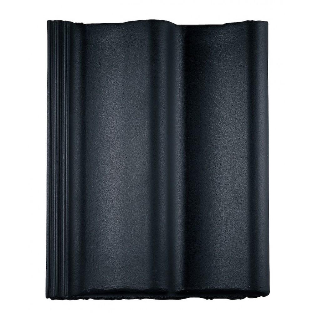 Monier Sneldek betonpan Nero/zwart glazuron effen