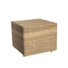 Kussenbox - naturel rond wicker 95x95x85cm