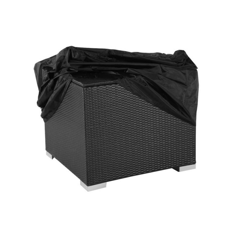 Kussenbox plat zwart wicker 95x85x95cm beste prijs for Plat kussen