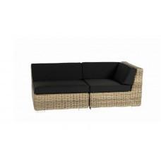 Loungeset Sofa Londen naturel rond wicker